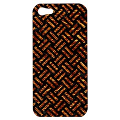 Woven2 Black Marble & Copper Foil Apple Iphone 5 Hardshell Case by trendistuff
