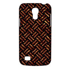 Woven2 Black Marble & Copper Foil Galaxy S4 Mini by trendistuff