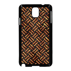Woven2 Black Marble & Copper Foil Samsung Galaxy Note 3 Neo Hardshell Case (black) by trendistuff