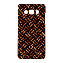 Woven2 Black Marble & Copper Foil Samsung Galaxy A5 Hardshell Case  by trendistuff