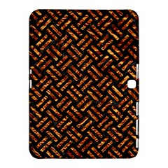 Woven2 Black Marble & Copper Foil Samsung Galaxy Tab 4 (10 1 ) Hardshell Case  by trendistuff