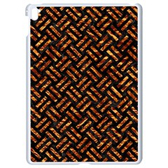 Woven2 Black Marble & Copper Foil Apple Ipad Pro 9 7   White Seamless Case by trendistuff