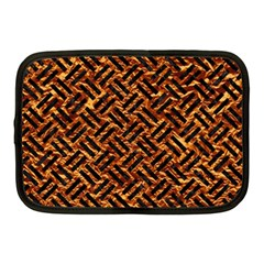 Woven2 Black Marble & Copper Foil (r) Netbook Case (medium)  by trendistuff