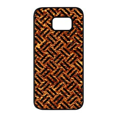 Woven2 Black Marble & Copper Foil (r) Samsung Galaxy S7 Edge Black Seamless Case by trendistuff