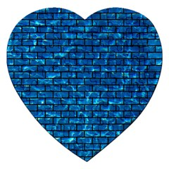 Brick1 Black Marble & Deep Blue Water (r) Jigsaw Puzzle (heart) by trendistuff