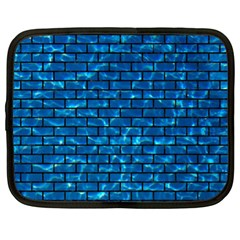 Brick1 Black Marble & Deep Blue Water (r) Netbook Case (xl)  by trendistuff