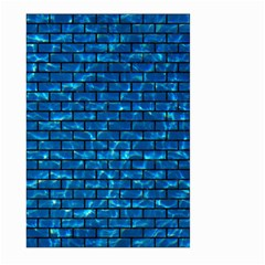 Brick1 Black Marble & Deep Blue Water (r) Large Garden Flag (two Sides) by trendistuff