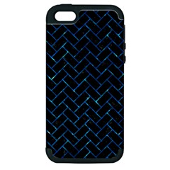Brick2 Black Marble & Deep Blue Water Apple Iphone 5 Hardshell Case (pc+silicone) by trendistuff