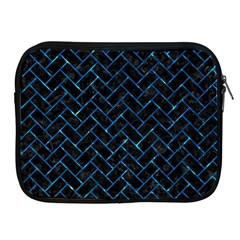Brick2 Black Marble & Deep Blue Water Apple Ipad 2/3/4 Zipper Cases by trendistuff