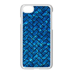 Brick2 Black Marble & Deep Blue Water (r) Apple Iphone 7 Seamless Case (white) by trendistuff
