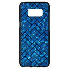 Brick2 Black Marble & Deep Blue Water (r) Samsung Galaxy S8 Black Seamless Case by trendistuff