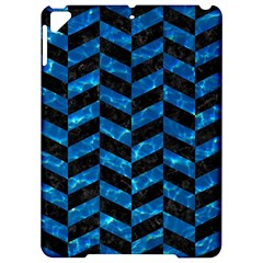 Chevron1 Black Marble & Deep Blue Water Apple Ipad Pro 9 7   Hardshell Case by trendistuff
