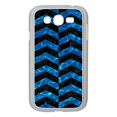 Chevron2 Black Marble & Deep Blue Water Samsung Galaxy Grand Duos I9082 Case (white) by trendistuff