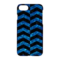 Chevron2 Black Marble & Deep Blue Water Apple Iphone 7 Hardshell Case by trendistuff
