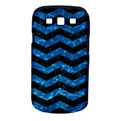 Chevron3 Black Marble & Deep Blue Water Samsung Galaxy S Iii Classic Hardshell Case (pc+silicone) by trendistuff