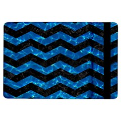Chevron3 Black Marble & Deep Blue Water Ipad Air Flip by trendistuff