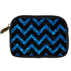 Chevron9 Black Marble & Deep Blue Water Digital Camera Cases by trendistuff
