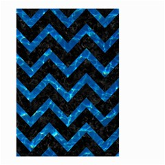 Chevron9 Black Marble & Deep Blue Water Small Garden Flag (two Sides) by trendistuff