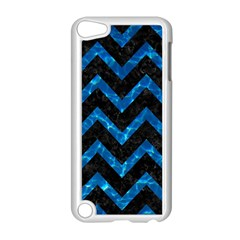 Chevron9 Black Marble & Deep Blue Water Apple Ipod Touch 5 Case (white) by trendistuff
