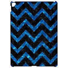Chevron9 Black Marble & Deep Blue Water Apple Ipad Pro 12 9   Hardshell Case by trendistuff