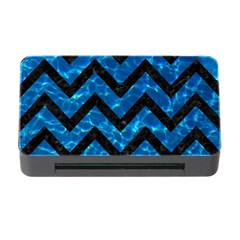 Chevron9 Black Marble & Deep Blue Water (r) Memory Card Reader With Cf by trendistuff