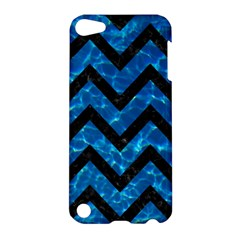 Chevron9 Black Marble & Deep Blue Water (r) Apple Ipod Touch 5 Hardshell Case by trendistuff