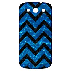 Chevron9 Black Marble & Deep Blue Water (r) Samsung Galaxy S3 S Iii Classic Hardshell Back Case by trendistuff