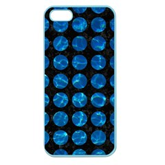 Circles1 Black Marble & Deep Blue Water Apple Seamless Iphone 5 Case (color) by trendistuff