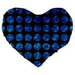 Circles1 Black Marble & Deep Blue Water Large 19  Premium Flano Heart Shape Cushions by trendistuff