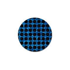 Circles1 Black Marble & Deep Blue Water (r) Golf Ball Marker (10 Pack) by trendistuff
