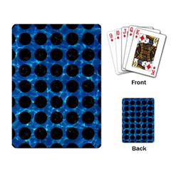 Circles1 Black Marble & Deep Blue Water (r) Playing Card by trendistuff