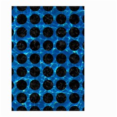 Circles1 Black Marble & Deep Blue Water (r) Small Garden Flag (two Sides) by trendistuff