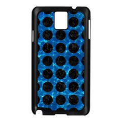Circles1 Black Marble & Deep Blue Water (r) Samsung Galaxy Note 3 N9005 Case (black) by trendistuff