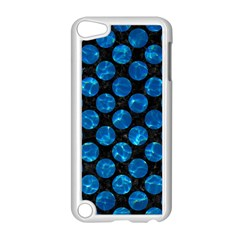 Circles2 Black Marble & Deep Blue Water Apple Ipod Touch 5 Case (white) by trendistuff