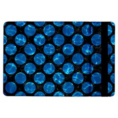 Circles2 Black Marble & Deep Blue Water Ipad Air Flip by trendistuff