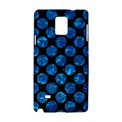 Circles2 Black Marble & Deep Blue Water Samsung Galaxy Note 4 Hardshell Case by trendistuff