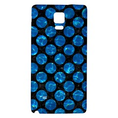 Circles2 Black Marble & Deep Blue Water Galaxy Note 4 Back Case by trendistuff