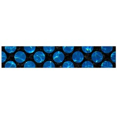 Circles2 Black Marble & Deep Blue Water Flano Scarf (large) by trendistuff