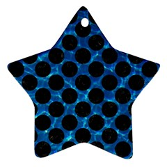 Circles2 Black Marble & Deep Blue Water (r) Star Ornament (two Sides) by trendistuff