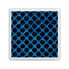 Circles2 Black Marble & Deep Blue Water (r) Memory Card Reader (square)  by trendistuff