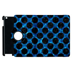 Circles2 Black Marble & Deep Blue Water (r) Apple Ipad 2 Flip 360 Case by trendistuff