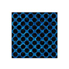 Circles2 Black Marble & Deep Blue Water (r) Satin Bandana Scarf by trendistuff