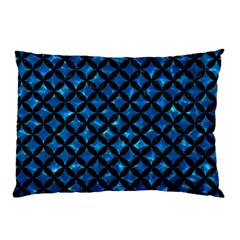 Circles3 Black Marble & Deep Blue Water (r) Pillow Case (two Sides) by trendistuff