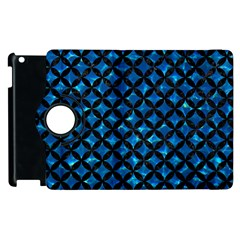 Circles3 Black Marble & Deep Blue Water (r) Apple Ipad 2 Flip 360 Case by trendistuff
