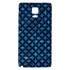 Circles3 Black Marble & Deep Blue Water (r) Galaxy Note 4 Back Case by trendistuff