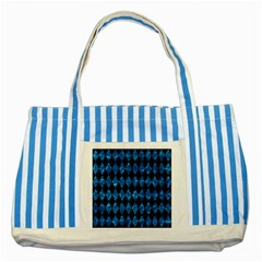 Diamond1 Black Marble & Deep Blue Water Striped Blue Tote Bag by trendistuff