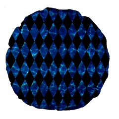 Diamond1 Black Marble & Deep Blue Water Large 18  Premium Round Cushions by trendistuff