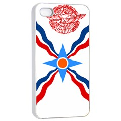 Assyrian Flag  Apple Iphone 4/4s Seamless Case (white) by abbeyz71