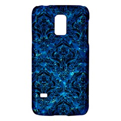 Damask1 Black Marble & Deep Blue Water (r) Galaxy S5 Mini by trendistuff