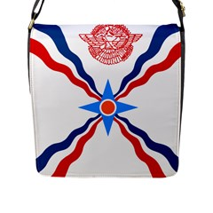 Assyrian Flag  Flap Messenger Bag (l)  by abbeyz71